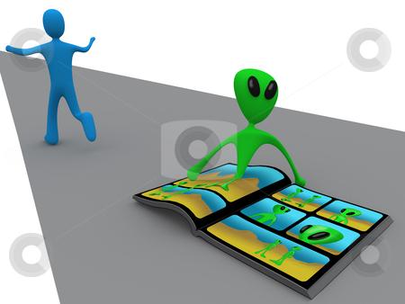 Alien Comic stock photo, Computer generated image - Alien Comic. by Konstantinos Kokkinis