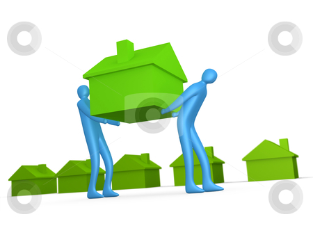 Home Movers stock photo, Computer generated image - Business - Home Movers. by Konstantinos Kokkinis