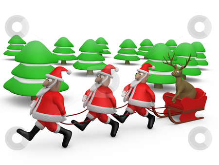 Weird Christmas stock photo, Computer generated image - Weird Christmas. by Konstantinos Kokkinis