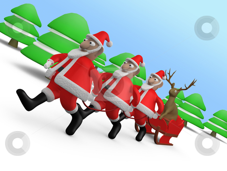 Weird Christmas stock photo, Computer generated image - Weird Christmas. by Konstantinos Kokkinis