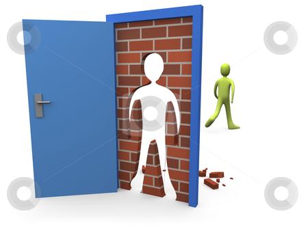 Blocked Door stock photo, Computer generated image - Blocked Door. by Konstantinos Kokkinis