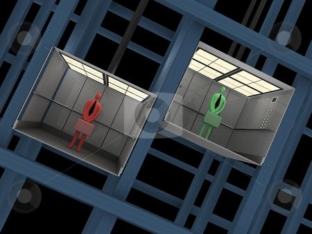 Elevator stock photo, Computer generated image - Elevator. by Konstantinos Kokkinis