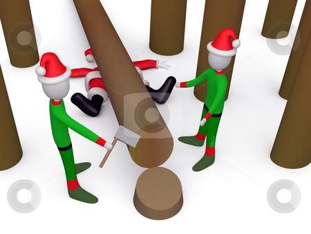 Where is Santa? stock photo, Computer generated image - Where is Santa? by Konstantinos Kokkinis