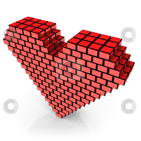 Box valentine stock photo, Computer generated image - Box valentine. by Konstantinos Kokkinis