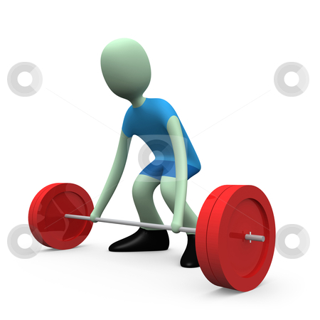 Sports - Weight-lifting stock photo, Computer generated image - Sports - Weight-lifting. by Konstantinos Kokkinis