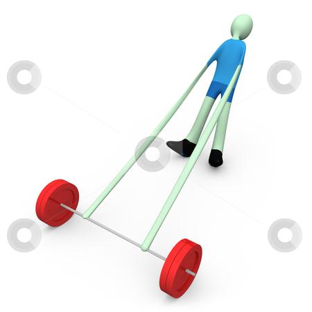 Sports - Weight-lifting stock photo, Computer generated image - Sports - Weight-lifting. by Konstantinos Kokkinis