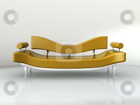 Concept Sofa stock photo, Computer generated image - Concept Sofa.  by Konstantinos Kokkinis