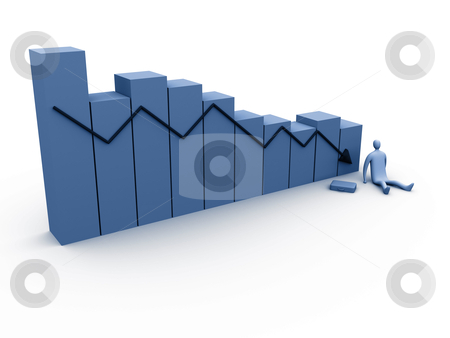 Business Failure stock photo, Computer Generated Image - Business Failure . by Konstantinos Kokkinis