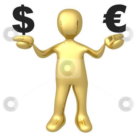Dollar vs Euro stock photo, Computer Generated Image - Dollar vs Euro . by Konstantinos Kokkinis