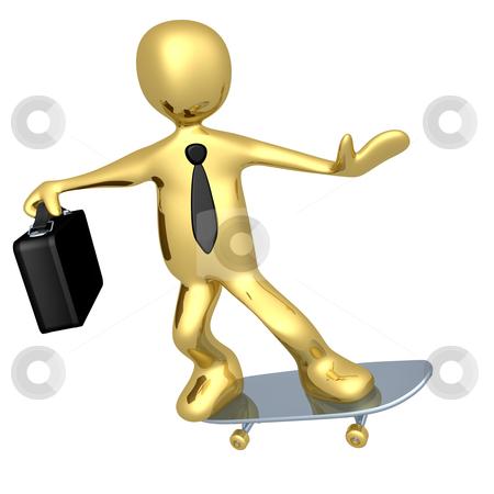 Businessman On Skateboard stock photo, Computer Generated Image - Businessman On Skateboard . by Konstantinos Kokkinis