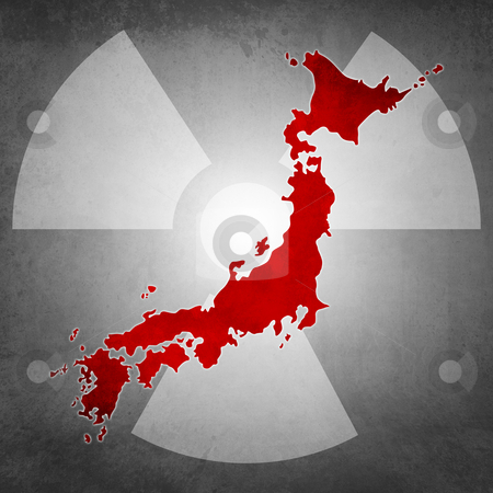 Japan radioactivity dangerous stock photo, Icon symbol for the japan radioactivity emergency by Giordano Aita