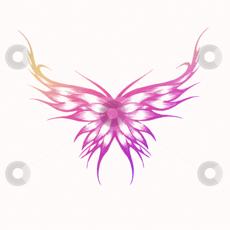 Abstract floral butterfly  stock photo, abstract floral butterfly by rufous