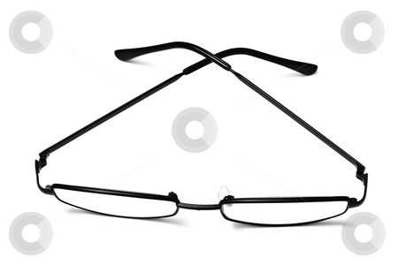 Reading glasses stock photo, Reading glasses isolated on white background 