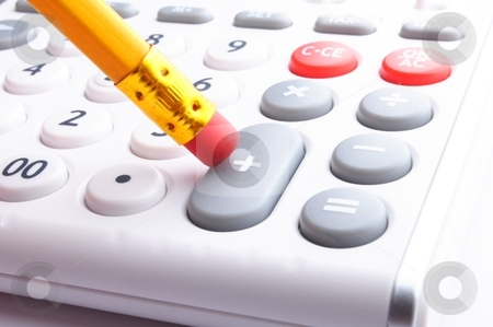 Calculator stock photo, calculator showing business still life or financial accounting concept by Gunnar Pippel
