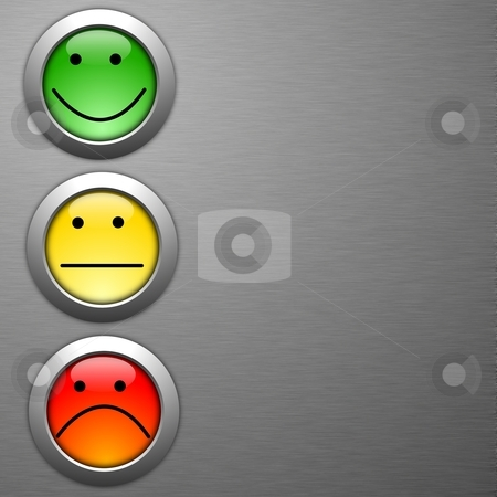 Customer satisfaction survey stock photo, customer satisfaction survey concept with smilie and button by Gunnar Pippel