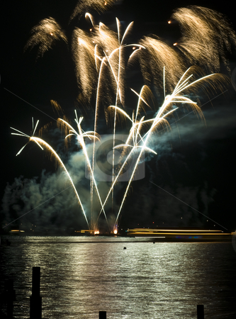 Wannsee in Flammen stock photo, beautiful fireworks display at Wannsee in Flammen in Berlin by Juliane Jacobs