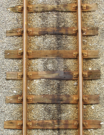 Railroad tracks view from top stock photo, railroad tracks view from top by johnjohnson