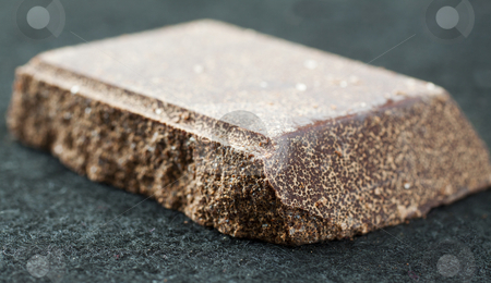 Chocolate stock photo, Big piece of dark chocolate, shallow DOF by Fabio Alcini
