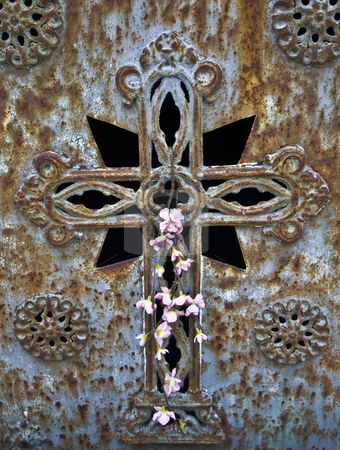 Cemetery stock photo, detail of an old cemetery in Lisbon by Juliane Jacobs