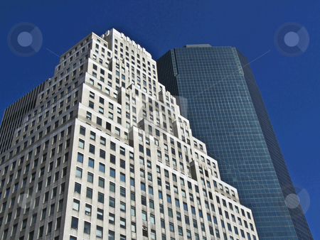 Office building stock photo, modern office buildings rising high in Manhattan by Juliane Jacobs