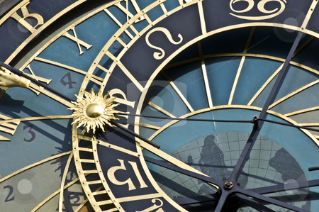 Astronomical clock stock photo, detail of the famous astronomical clock in Prague by Juliane Jacobs