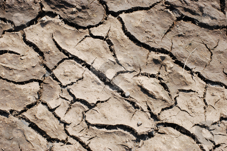 Dry stock photo, closeup of a dry and cracked patch of earth by Juliane Jacobs