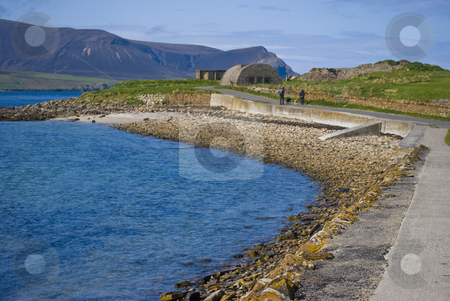 Beach on Orkney Mainland stock photo, beautiful beach on Orkney with view to the isle of Hoy by Juliane Jacobs