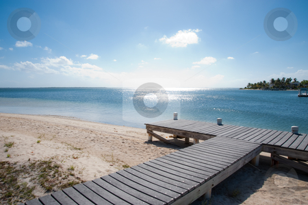 Cayman Kai Beach jetty stock photo, Cayman Kai Beach jetty, Grand Cayman by Jaime Pharr