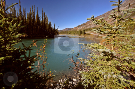 Liard River in British Columbia stock photo, Liard River in British Columbia by Mark Duffy