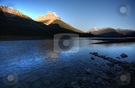 Athabasca River in Jasper National Park stock photo, Athabasca River in Jasper National Park by Mark Duffy