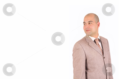 A Businessman happiness looking  stock photo, A Businessman happiness looking on white background by vladacanon1