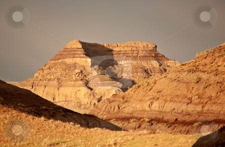Castle Butte in Big Muddy Valley of Saskatchewan stock photo, Castle Butte in Big Muddy Valley of Saskatchewan by Mark Duffy