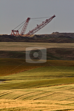 Coal draglines in Southern Saskatchewan stock photo, Coal draglines in Southern Saskatchewan by Mark Duffy