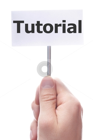 Tutorial stock photo, tutorial or howto concept with hand word an paper by Gunnar Pippel
