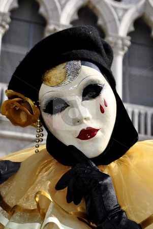 Carnival of Venice stock photo, carnival masks, colorful and beautiful art. In Venice  by freeteo
