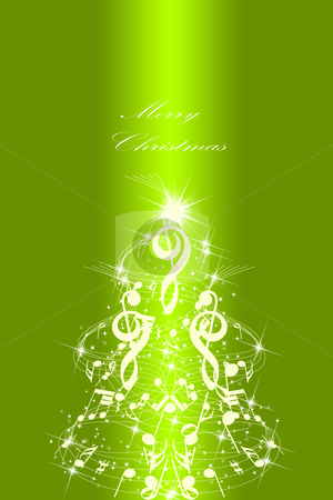 Abstract Christmas card stock photo, Beautiful abstract Christmas card  by Ingvar Bjork