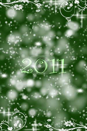 Abstract background of 2011 stock photo, Beautiful and modern abstract background of 2011  by Ingvar Bjork