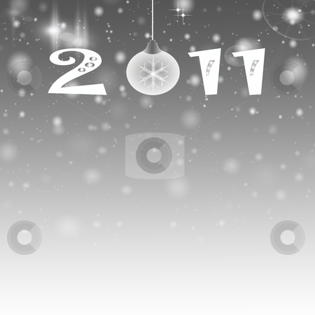 Abstract light background of 2011 stock photo, Abstract light background of 2011 by Ingvar Bjork