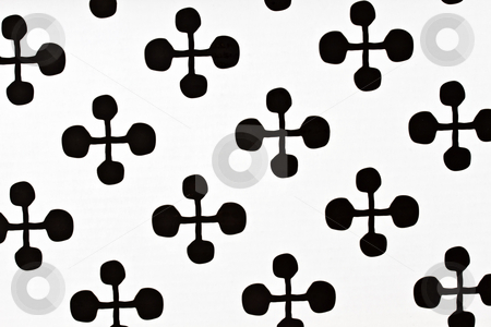 Black  White Polka  Dress on Black And White Pattern Fabric Stock Photo  Black And White Pattern