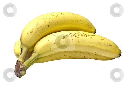 Bananas isolated on white stock photo, Bananas isolated on white background   by Ingvar Bjork