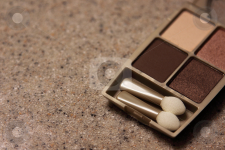 Four Metallic Blushes stock photo, Copper coloured blush sitting on a countertop.  by Chris Hill