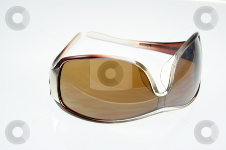 Isolated Sunglasses stock photo, An isolated shot of sunglasses on white. by Chris Hill
