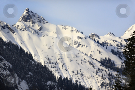 Kendall Peak Snow Mountain Snoqualme Pass Washington stock photo, Kendall Peak Snow Mountain Snoqualme Pass Washington by William Perry