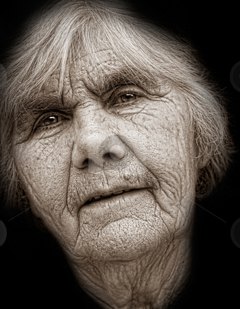 Senior lady stock photo, Closeup portrait of nice senior lady  by borojoint