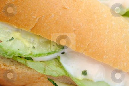 Close up of healthy vegetable burger stock photo, Close up of healthy vegetable burger. Suitable for concepts such as diet and nutrition, healthy eating and lifestyle, and food and beverage. by Wai Chung Tang