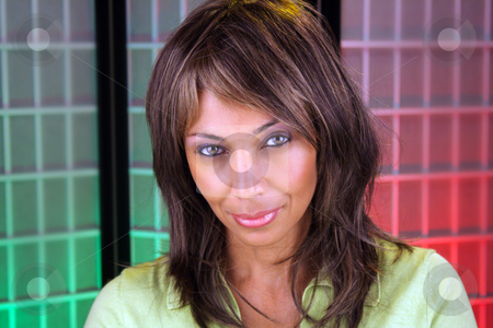 Beautiful Mature Black Woman Headshot (6) stock photo, Casual studio close-up of a lovely mature black woman by Carl Stewart