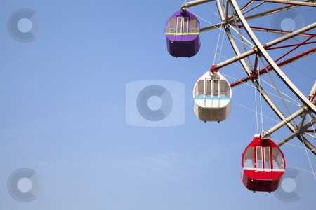 Blue Sky and Ferris wheel stock photo, Blue Sky and Ferris wheel by tomwang