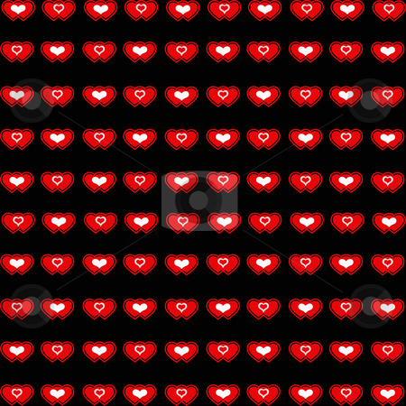 Red heart background stock photo, Lovely seamless red heart pattern. Abstract valentine background. by Ingvar Bjork