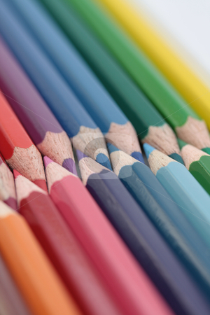 Collection of colorpencils stock photo, A collection of brand new unused colorpencils by Porto Sabbia