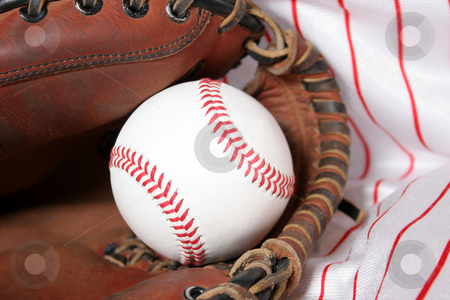 Baseball stock photo, baseball and glove  by vladacanon1